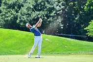 Bethesda, MD - July 1, 2018: Bronson Burgoon hits a nice shot on the first hole during final round of professional play at the Quicken Loans National Tournament at TPC Potomac at Avenel Farm in Bethesda, MD.  (Photo by Phillip Peters/Media Images International)