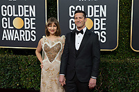 Host Andy Samberg and Joanna Newsom (L)  attends the 76th Annual Golden Globe Awards at the Beverly Hilton in Beverly Hills, CA on Sunday, January 6, 2019.<br /> *Editorial Use Only*<br /> CAP/PLF/HFPA<br /> Image supplied by Capital Pictures