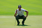 Lee Slattery (ENG) lines up his putt on the 5th green during Day 3 of the BMW Italian Open at Royal Park I Roveri, Turin, Italy, 11th June 2011 (Photo Eoin Clarke/Golffile 2011)