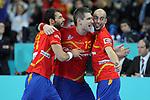 Sarmiento, Aguinagalde & Rocas. SPAIN vs SLOVENIA: 26-22 - Semifinal.
