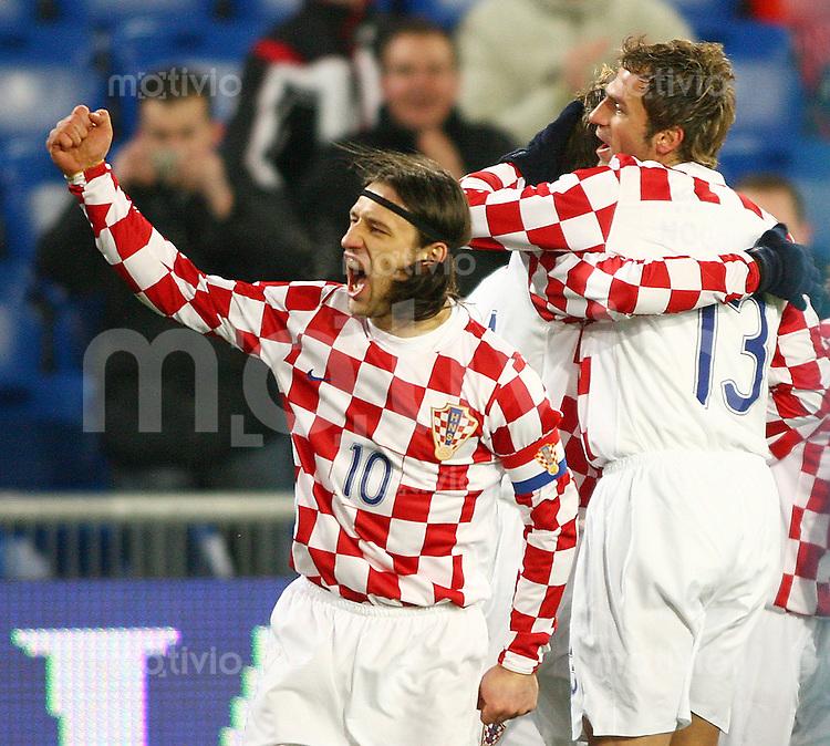 Fussball International Testspiel Kroatien - Argentinien Jubel Kroatien nach 1:0 ; Nico Kovac (CRO,li)