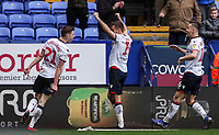 Bolton Wanderers' Gary O'Neil celebrates scoring his side's second goal with team mates Joe Williams and Pawel Olkowski <br /> <br /> Photographer Andrew Kearns/CameraSport<br /> <br /> The EFL Sky Bet Championship - Bolton Wanderers v Millwall - Saturday 9th March 2019 - University of Bolton Stadium - Bolton <br /> <br /> World Copyright © 2019 CameraSport. All rights reserved. 43 Linden Ave. Countesthorpe. Leicester. England. LE8 5PG - Tel: +44 (0) 116 277 4147 - admin@camerasport.com - www.camerasport.com