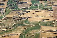Spanische Landschaft: SPANIEN, KASTILIEN LEON, 05.08.2014: Landschaft der ProvinzAragon