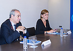 Juan Carlos Vera and Maria Dolores de Cospedal, during the meeting between Partido Popular and Union Progreso y Democracia. May 23,2016. (ALTERPHOTOS/Rodrigo Jimenez)