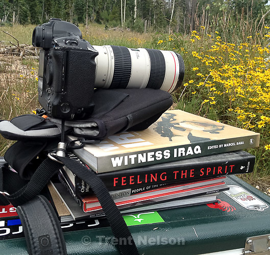 shooting positions, Tuesday August 6, 2013. remote camera on books