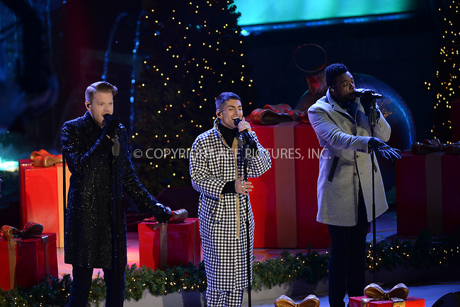 www.acepixs.com<br /> November 30, 2016  New York City<br /> <br /> Pentatonix performing at The Rockefeller Center Christmas Tree lighting ceremony on November 30, 2016 in New York City.<br /> <br /> <br /> Credit: Kristin Callahan/ACE Pictures<br /> <br /> <br /> Tel: 646 769 0430<br /> Email: info@acepixs.com