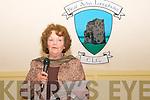 "Ballylongford Book Launch : Nancy McAuliffe speaking at the launch of her book ""Ballylonford A Photographic Memoir"" at the Eddie Carmody Memorial Hall, Ballylongford on Friday night last."