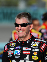 Nov. 20, 2009; Homestead, FL, USA; NASCAR Sprint Cup Series driver Jeff Burton during qualifying for the Ford 400 at Homestead Miami Speedway. Mandatory Credit: Mark J. Rebilas-