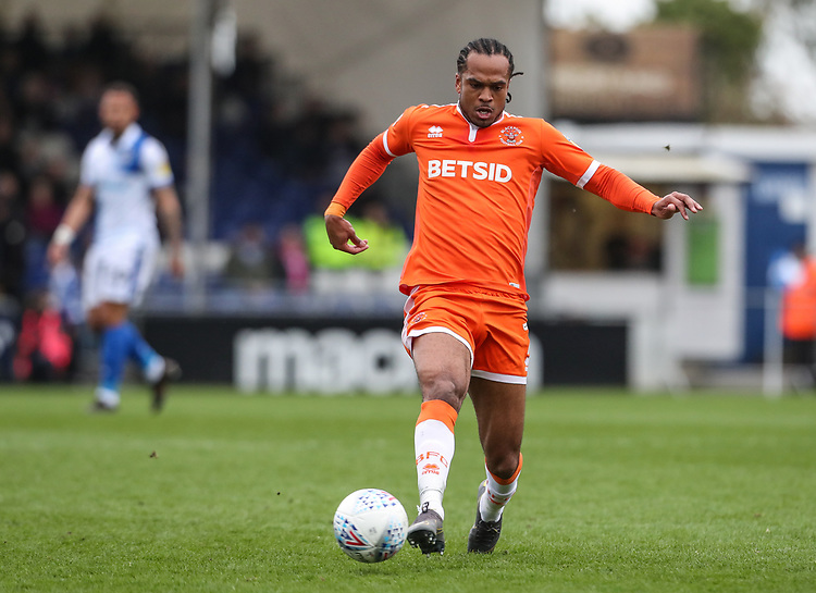Blackpool's Nathan Delfouneso breaks<br /> <br /> Photographer Andrew Kearns/CameraSport<br /> <br /> The EFL Sky Bet League Two - Bristol Rovers v Blackpool - Saturday 2nd March 2019 - Memorial Stadium - Bristol<br /> <br /> World Copyright © 2019 CameraSport. All rights reserved. 43 Linden Ave. Countesthorpe. Leicester. England. LE8 5PG - Tel: +44 (0) 116 277 4147 - admin@camerasport.com - www.camerasport.com