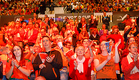 The Hague, The Netherlands, Februari 8, 2020,    Sportcampus, FedCup  Netherlands -  Balarus, Dutch supporters<br /> Photo: Tennisimages/Henk Koster