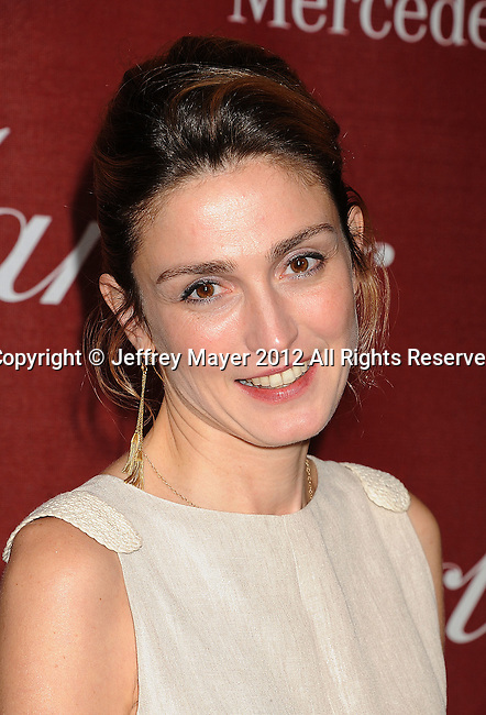 PALM SPRINGS, CA - JANUARY 07: Julie Gayet arrives at the 2012 Palm Springs Film Festival Awards Gala at the Palm Springs Convention Center on January 7, 2012 in Palm Springs, California.