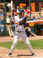 GREEN BAY - June 2015: Green Bay Bullfrogs outfielder Paul Jacobson (24) during a Northwoods League game against the Kenosha Kingfish on June 21st, 2015 at Joannes Park in Green Bay, Wisconsin. Green Bay defeated Kenosha 10-7. (Brad Krause/Krause Sports Photography)