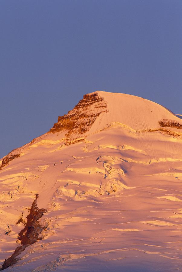 Summit of Mt Baker at sunrise, North Cascades, Cascade Mountains, Washington