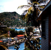 Harbour side view of Georgetown, Grenada, Caribbean,1976