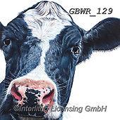 Simon, REALISTIC ANIMALS, REALISTISCHE TIERE, ANIMALES REALISTICOS, paintings+++++Card_OliviaH_FriesianCow,GBWR129,#a#, EVERYDAY,cow