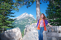 Melissa Rigney photographed in front of Jenny Lake, Grand Tetons, WY  Melissa Rigney photographed in front of Jenny Lake, Grand Tetons, WY