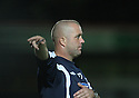 Grays Athletic manager Julian Dicks makes a point during the Blue Square Premier match between Stevenage Borough and Grays Athletic at the Lamex Stadium, Broadhall Way, Stevenage on 22nd September, 2009..© Kevin Coleman 2009 .....© Kevin Coleman 2009 .....© Kevin Coleman 2009 .