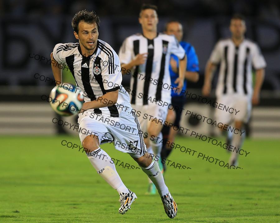 Fudbal Football Soccer<br /> UEFA Champions league-2nd qualifying round<br /> Partizan v HB Torshavn (Faroe Islands)<br /> Danko Lazovic (L)<br /> Beograd, 07.15.2014.<br /> foto: Srdjan Stevanovic/Starsportphoto &copy;