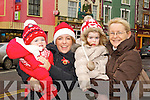 Pictured at the Santa parade in Listowel on Sunday were l-r: Ruby Ryan, Niamh Ryan, Holly Ryan and Breda Kenny.