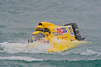 8-10 August 2008  Algonac, MI USA.Terry Rinker boat bobs to the surface after submarining during a heat race..©F.Peirce Williams 2008