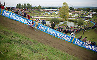 Belgian Champion Sven Nys (BEL/Crelan-AAdrinks) in the lead<br /> <br /> GP Mario De Clercq 2014<br /> Hotond Cross<br /> CX BPost Bank Trofee - Ronse