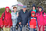 Braving the weather at the charity walk in aid of Crumlin Children's Hospital in Ross Castle Killarney on Saturday morning was l-r:Lucy O'Neill Caragh Lake, Marian, Sean Flynn Castlegregory, Eoin, Dara O'Reilly and Mary Tully Killarney..