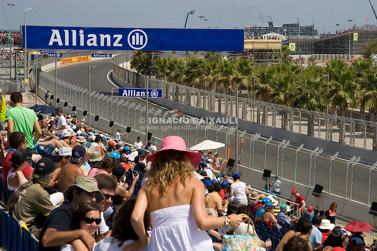 bleachers circuit .Gradas del circuito - Valencia Street Circuit - Europe Gran Prix / Circuito Urbano de Valencia - Gran Premio de Europa