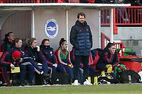 Arsenal manager Joe Montemurro during Brighton & Hove Albion Women vs Arsenal Women, Barclays FA Women's Super League Football at Broadfield Stadium on 12th January 2020