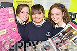 EDUCATION: Students from Colaiste na Sceilge who took part in a major Trocaire Project which will be shown to Minister John Gormley next week..L/r. Annette Donnelly (Waterville), Karen O'Neill (Renard) and Sinead O'Sullivan (Waterville).   Copyright Kerry's Eye 2008