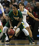 North Dakota State's Carlin Dupree (13) looks to pass while being guarded by  Gonzaga's Kevin Pangos (4)  during the 2015 NCAA Division I Men's Basketball Championship's March 20, 2015 at the Key Arena in Seattle, Washington. ©2015. Jim Bryant Photo. ALL RIGHTS RESERVED.
