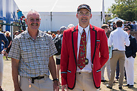 Henley on Thames, United Kingdom, 6th July 2018, Friday, View,&quot; Y Quad Cities&quot;, coaches,left, and Right, Peter SHARIS, <br />  &quot;Third day&quot;, of the annual,  &quot;Henley Royal Regatta&quot;, Henley Reach, River Thames, Thames Valley, England, &copy; Peter SPURRIER,