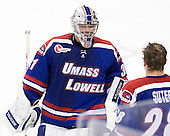 Doug Carr (UML - 31) - The Boston College Eagles defeated the visiting University of Massachusetts Lowell River Hawks 6-3 on Sunday, October 28, 2012, at Kelley Rink in Conte Forum in Chestnut Hill, Massachusetts.