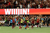 ATLANTA, Georgia - August 27: Atlanta United FC celebrates during the 2019 U.S. Open Cup Final between Atlanta United and Minnesota United at Mercedes-Benz Stadium on August 27, 2019 in Atlanta, Georgia.