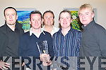 BEST: Best of friends meet up at the old reserve Golfing Socity Prize given cermony at Ballyroe Heights Hotel Tralee on saturday night, L-r: Richard Grere, Mike Leahy, Damian Grere, Noel McCord, and Sean McCord.   Copyright Kerry's Eye 2008