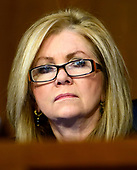 United States Senator Marsha Blackburn (Republican of Tennessee) listens as William P. Barr testifies before the United States Senate Committee on the Judiciary on his nomination to be Attorney General of the US on Capitol Hill in Washington, DC on Tuesday, January 15, 2019.<br /> Credit: Ron Sachs / CNP<br /> (RESTRICTION: NO New York or New Jersey Newspapers or newspapers within a 75 mile radius of New York City)