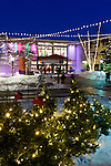 L.L. Bean store with holiday lighting, Freeport, Maine, USA