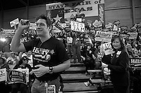 Cheering crowd for Hillary before Texas Primary in 2008