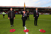 Wreaths are laid for Armistice Day during Stevenage vs Notts County, Sky Bet EFL League 2 Football at the Lamex Stadium on 11th November 2017