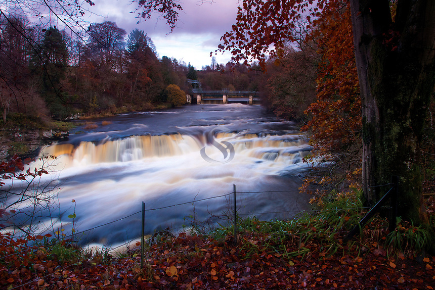 Bonnington Linn and the River Clyde, Falls of Clyde near New Lanark, South Lanarkshire