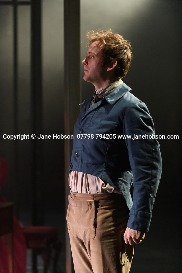 """Dundee, UK. 18.04.2017. Dundee Rep Ensemble and Poorboy Ensemble present a world premiere of """"Monstrous Bodies (Chasing Mary Shelley Down Peep O'Day Lane)"""", written and directed by Poorboy's Sandy Thomson. Picture shows: Jeremiah Reynolds (Nathan Green). Photograph © Jane Hobson."""