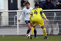 Lucia Leon of Tottenham Ladies and Lauren Haynes of Oxford United Ladies during Tottenham Hotspur Ladies vs Oxford United Women, FA Women's Super League FA WSL2 Football at Theobalds Lane on 11th February 2018