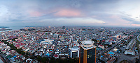 May, 22, 2012 - Phnom Penh, Cambodia. Panoramic of the city of Phnom Penh from the Vattanac tower. © Nicolas Axelrod / Ruom