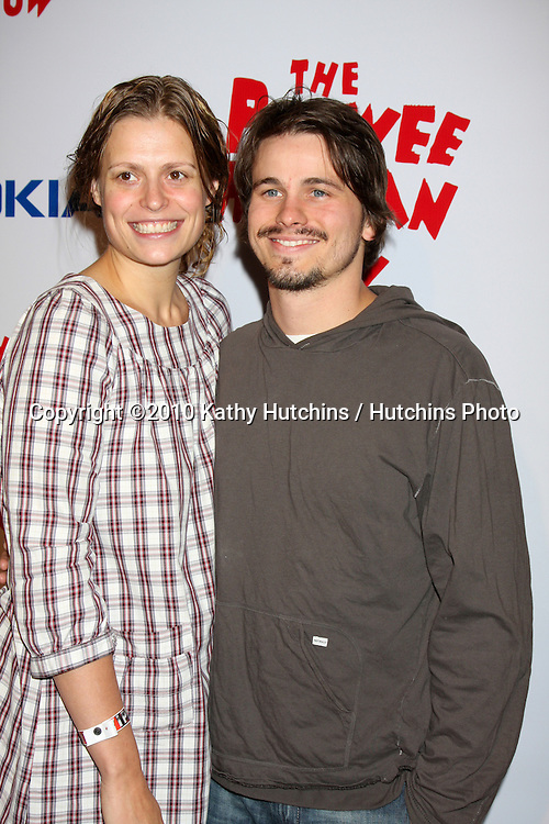 "Jason Ritter, Marianna Palka.arriving at the ""The Pee Wee Herman Show"" Opening Night..Club Nokia.Los Angeles, CA.January 20, 2010.©2010 Kathy Hutchins / Hutchins Photo...."