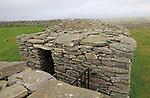 Knockdrum Iron Age stone fort perimeter defensive walls, near Castletownshend, County Cork, Ireland, Irish Republic