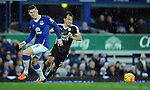 Shinji Okazaki of Leicester City  is challenged by John Stones of Everton<br /> - Barclays Premier League - Everton vs Leicester City - Goodison Park - Liverpool - England - 19th December 2015 - Pic Robin Parker/Sportimage