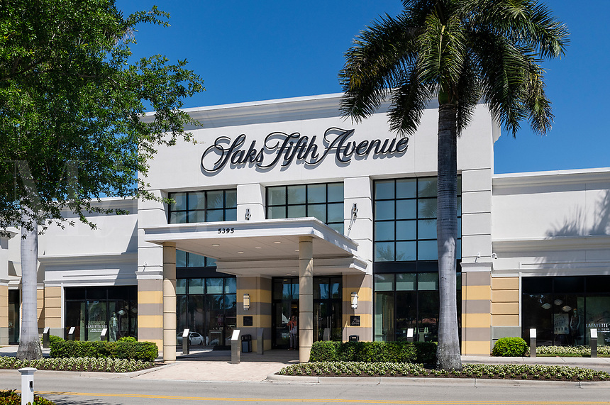 Saks Fifth Avenue store exterior, Waterside Shops, Naples, Florida, USA.