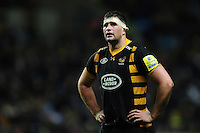 Matt Symons of Wasps looks on during a break in play. Aviva Premiership match, between Wasps and Leicester Tigers on January 8, 2017 at the Ricoh Arena in Coventry, England. Photo by: Patrick Khachfe / JMP
