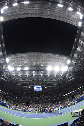 FLUSHING NY- AUGUST 31: For the first time in regulation play the roof closes  asRafael Nadal Vs Andreas Seppi on Arthur Ashe Stadium at the USTA Billie Jean King National Tennis Center on August 31, 2016 in Flushing Queens. Credit: mpi04/MediaPunch