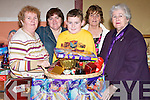 ..BAZAAR: making up the Hamper for the Ballymacelligott Bazaar at Ballymacelligott on Sunday were l-r: June Fitzgerald, Maureen Harris, Neil Crowley, Florence Ahern and Judy O'Connor..........   Copyright Kerry's Eye 2008