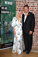 Mollie King and Born Free co-founder Will Travers OBE attend the Born Free Raise the Red Flag, Global Initiative launch at the Royal Society for Art, London on August 7th 2019<br /> CAP/ROS<br /> ©ROS/Capital Pictures